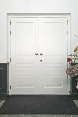 dubbele voordeur interieur  woonhuis